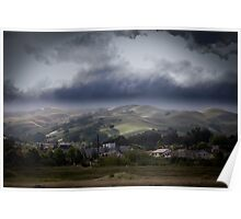 stormy clouds on a sunny day Poster