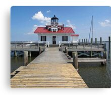 Roanoke Marshes Replica Lighthouse Canvas Print