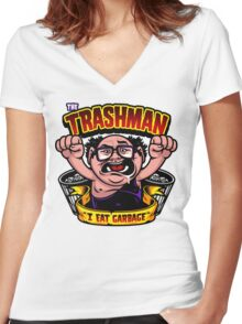 The Trashman Women's Fitted V-Neck T-Shirt