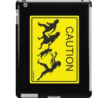 CAUTION Zombie Crossing! iPad Case/Skin