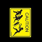 CAUTION Zombie Crossing! iPhone case by Humerus