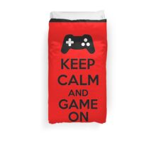Keep Calm And Game On Duvet Cover