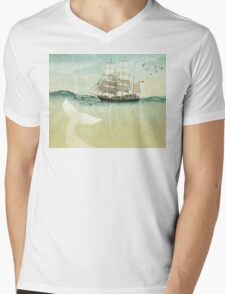 White Tail Mens V-Neck T-Shirt