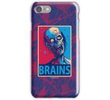 BRAINS Zombie Poster iPhone Case iPhone Case/Skin