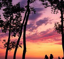 Sunset on the Beach by AaronJSmith