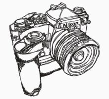 Nikon FE with MD-12 Motor Drive Drawing by strayfoto