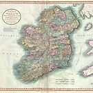 Vintage Map of Ireland (1799) by alleycatshirts