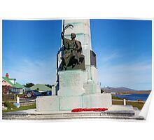 1914 War Memorial, Stanley, Falkland Islands Poster