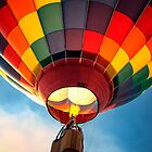 Hot Air Balloon in Flight by KellyHeaton