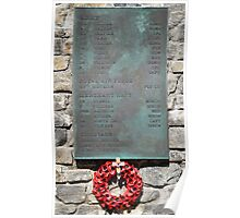 1982 War Memorial, Stanley, Falkland Islands Poster