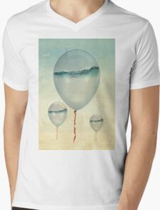 Wet Weather Balloons Mens V-Neck T-Shirt