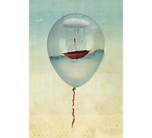 embracing the rain in a bubble Photographic Print