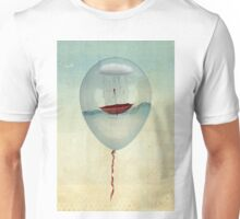 embracing the rain in a bubble Unisex T-Shirt