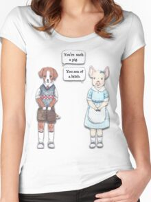 Animal Puns Women's Fitted Scoop T-Shirt
