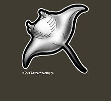 Manta Ray Womens Fitted T-Shirt