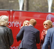 Prince Harry at The Virgin London Marathon 2013 by Keith Larby