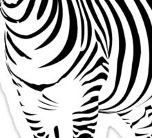 Black Stripe Zebra Sticker