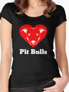 I Love Pit Bulls Women's Fitted Scoop T-Shirt