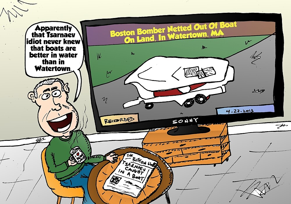 Watertown Boat Editorial Cartoon by Binary-Options