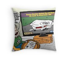Watertown Boat Editorial Cartoon Throw Pillow
