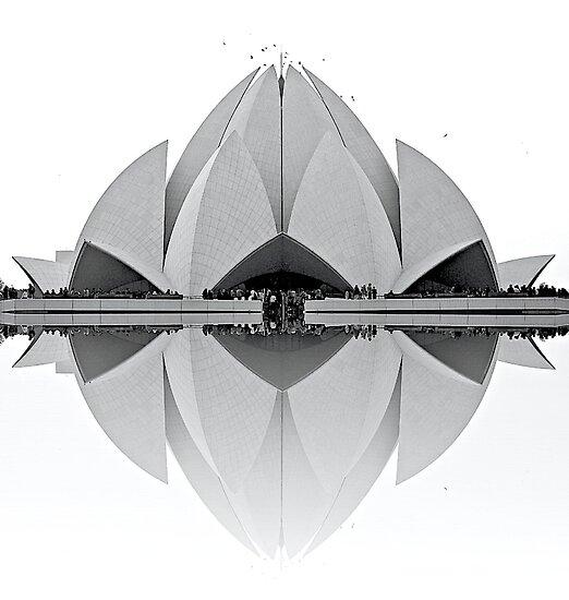 Lotus Temple by fernblacker
