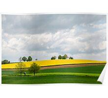 Farming Landscape Poster