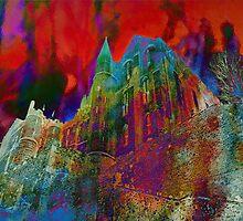 Mont St Michel Enflammé by Karo / Caroline Evans (Caux-Evans)