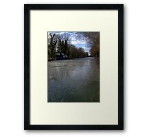 Frozen Canal in Berkshire Framed Print