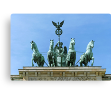 Brandenburg Gate Quadriga Berlin Canvas Print