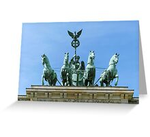 Brandenburg Gate Quadriga Berlin Greeting Card
