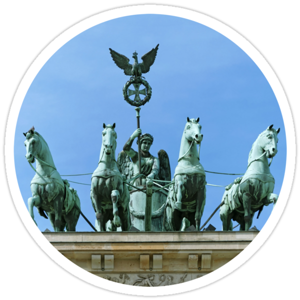 Brandenburg Gate Quadriga Berlin by Vac1