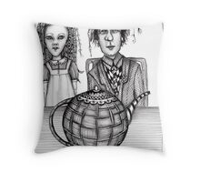 A tea party with Alice Throw Pillow