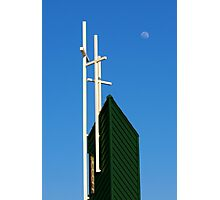 Moon Over Grayson Bible Baptist Church Photographic Print