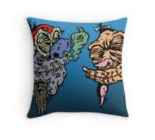 Shrunk-Ren & Stimpy Throw Pillow