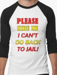 Please hide me Men's Baseball ¾ T-Shirt