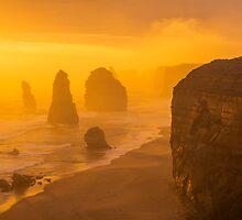 Sunset. The Twelve Apostles. by Mark Higgins