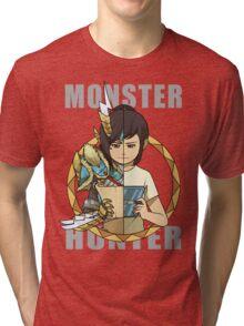 Hunter's Life (Zinogre) (F3DS) Tri-blend T-Shirt