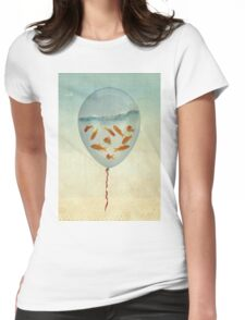 balloon fish 02 Womens Fitted T-Shirt