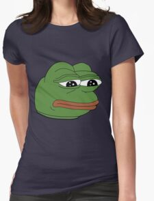 Pepe The Frog Womens Fitted T-Shirt