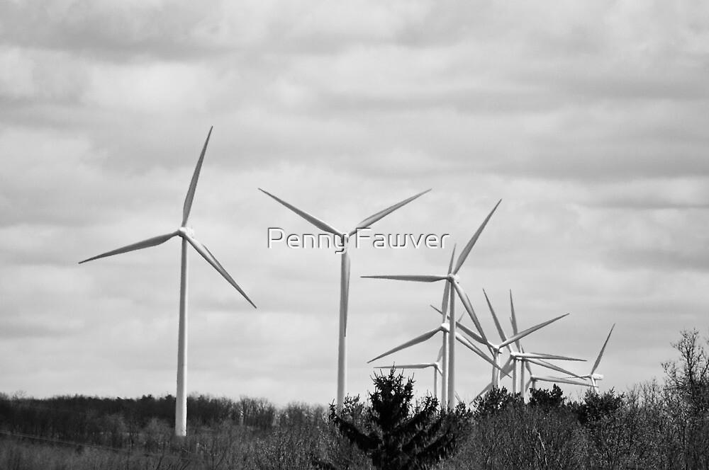 Windmills in Centralia, PA by Penny Rinker