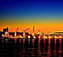Newcastle harbour by Delightfuldave