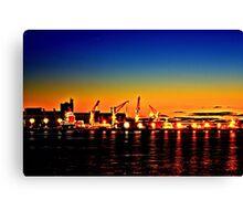 Newcastle harbour Canvas Print