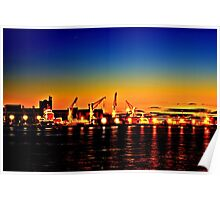 Newcastle harbour Poster