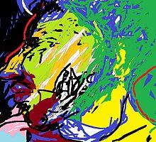 Imaginary self-portrait -(230413)- Digital art/Microsoft Paint by paulramnora