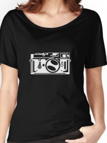 Classic Leica M3 Camera Design WHITE INK for DARK TEES Women's Relaxed Fit T-Shirt