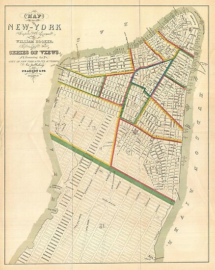 Vintage Map of New York City (1831) by alleycatshirts