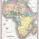Vintage Map of Africa (1827) by alleycatshirts