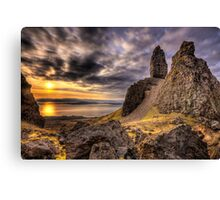 The Old Man at Sunrise Canvas Print