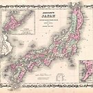 Vintage Map of Japan (1862) by alleycatshirts