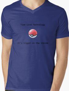 Time Lord Technology Pokeball Mens V-Neck T-Shirt